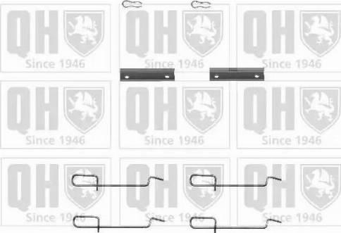 Quinton Hazell BFK741 - Piederumu komplekts, Disku bremžu uzlikas interparts.lv