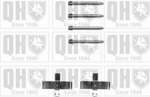 Quinton Hazell BFK704 - Piederumu komplekts, Disku bremžu uzlikas interparts.lv