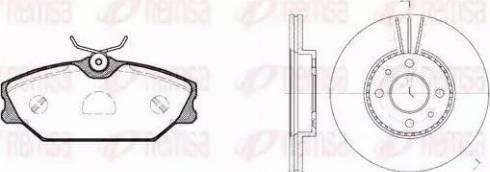 Remsa 8208.04 - Bremžu komplekts, Disku bremzes interparts.lv