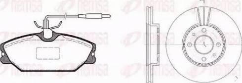 Remsa 8208.01 - Bremžu komplekts, Disku bremzes interparts.lv