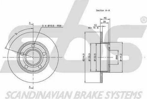 SBS 1815204747 - Bremžu diski interparts.lv