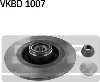 SKF VKBD 1007 - Bremžu diski interparts.lv