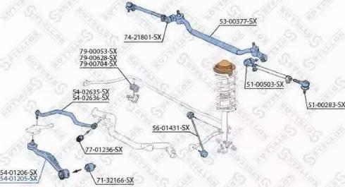 Stellox 54-01205-SX - Neatkarīgs riteņu piekares svira interparts.lv