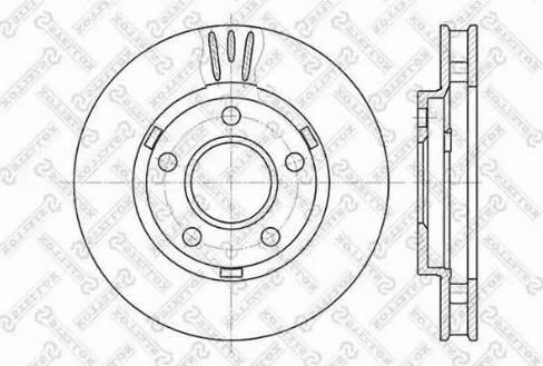 Stellox 6020-3634V-SX - Bremžu diski interparts.lv