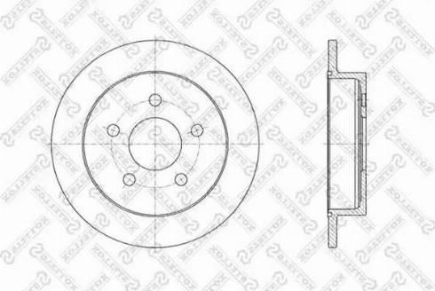 Stellox 6020-3636-SX - Bremžu diski interparts.lv