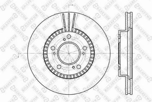 Stellox 6020-2622V-SX - Bremžu diski interparts.lv