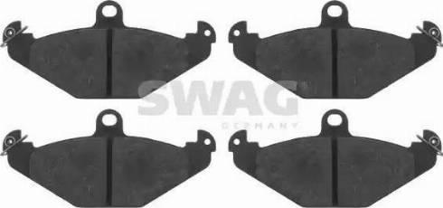 Swag 60 91 6403 - Bremžu uzliku kompl., Disku bremzes interparts.lv