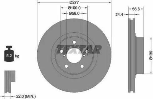 Textar 92094603 - Bremžu diski interparts.lv