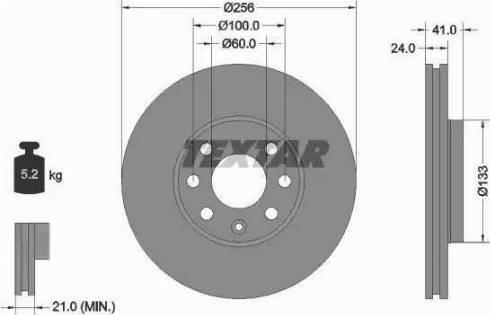 Textar 92091803 - Bremžu diski interparts.lv