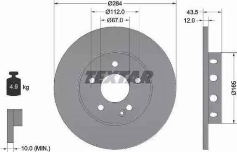 Textar 92059303 - Bremžu diski interparts.lv