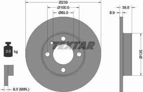 Textar 92009303 - Bremžu diski interparts.lv