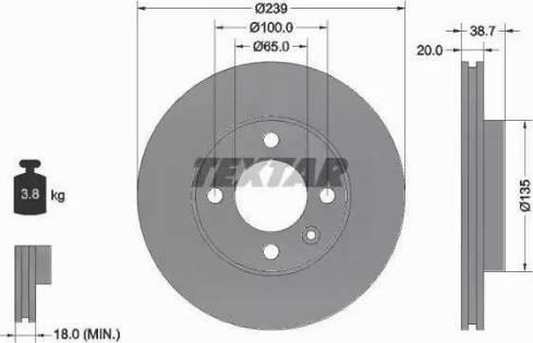Textar 92012103 - Bremžu diski interparts.lv