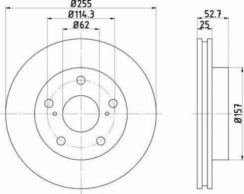 Textar 92080800 - Bremžu diski interparts.lv