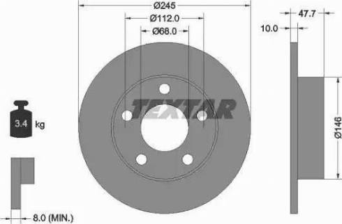 Textar 92088503 - Bremžu diski interparts.lv