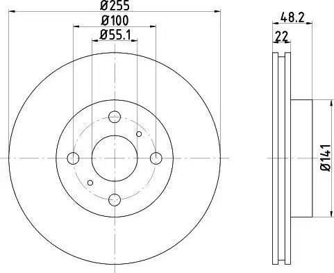 Textar 92077203 - Bremžu diski interparts.lv
