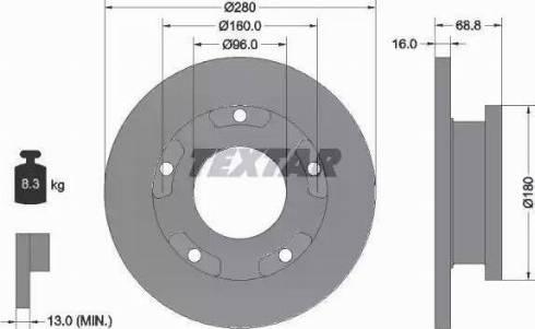 Textar 92159100 - Bremžu diski interparts.lv