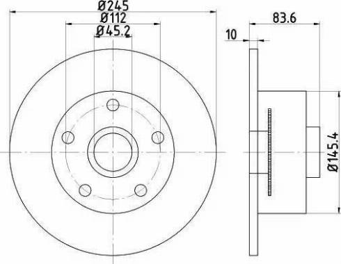 Textar 92154303 - Bremžu diski interparts.lv