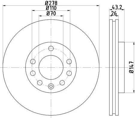 Textar 92156400 - Bremžu diski interparts.lv