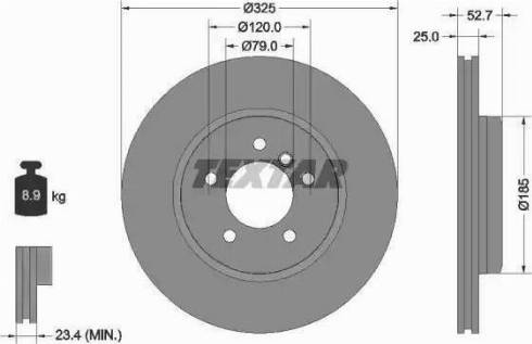 Textar 92106905 - Bremžu diski interparts.lv