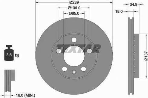Textar 92106803 - Bremžu diski interparts.lv