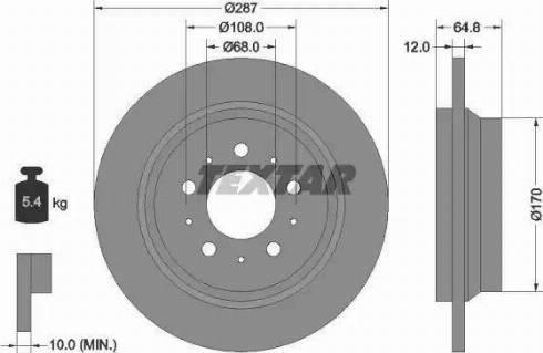 Textar 92100703 - Bremžu diski interparts.lv