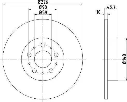Textar 92114703 - Bremžu diski interparts.lv