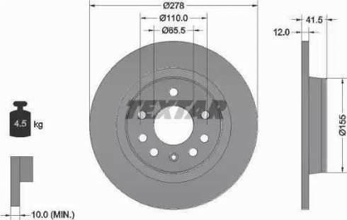 Textar 92118503 - Bremžu diski interparts.lv