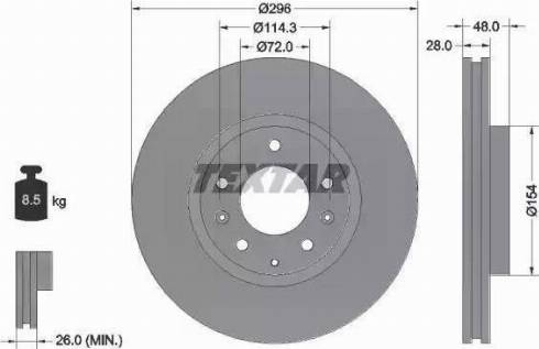 Textar 92180803 - Bremžu diski interparts.lv