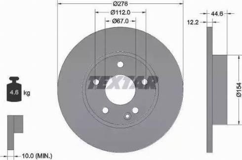 Textar 92131803 - Bremžu diski interparts.lv