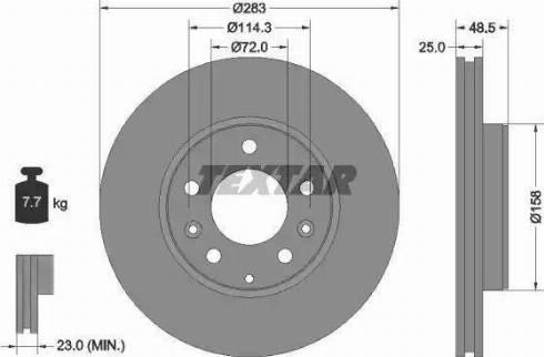 Textar 92125503 - Bremžu diski interparts.lv