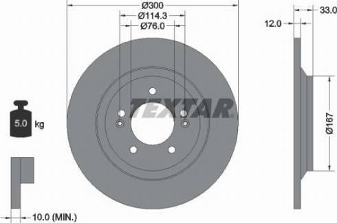 Textar 92296303 - Bremžu diski interparts.lv
