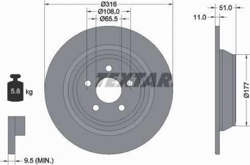 Textar 92291903 - Bremžu diski interparts.lv