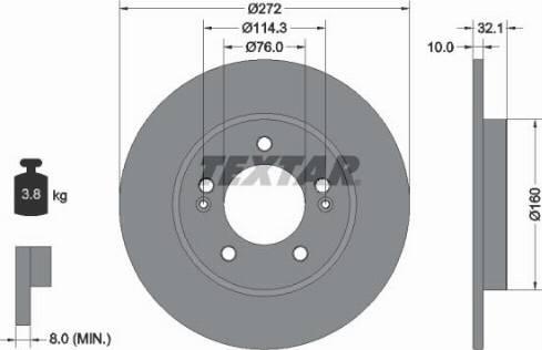 Textar 92291703 - Bremžu diski interparts.lv
