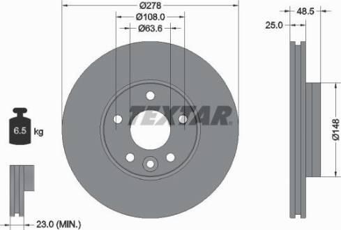 Textar 92292303 - Bremžu diski interparts.lv