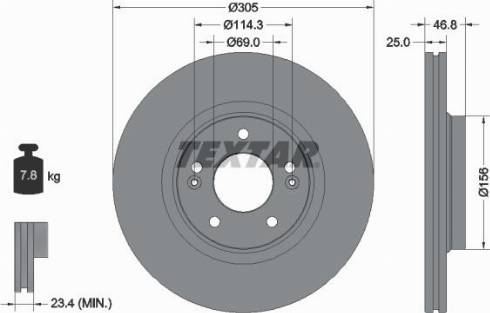 Textar 92292203 - Bremžu diski interparts.lv