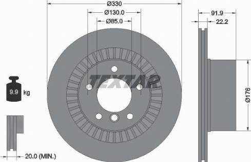 Textar 92261903 - Bremžu diski interparts.lv