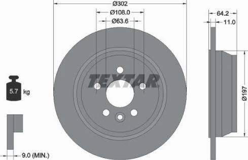 Textar 92283003 - Bremžu diski interparts.lv