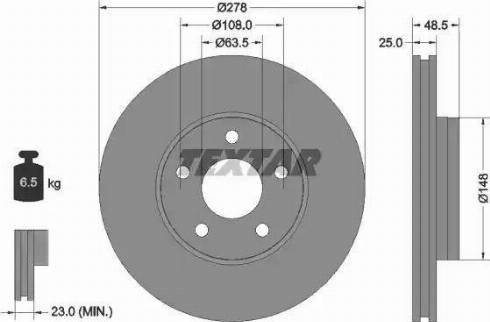 Textar 92237703 - Bremžu diski interparts.lv