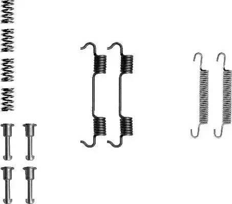 Textar 97012600 - Piederumu komplekts, Stāvbremzes mehānisma bremžu loks interparts.lv