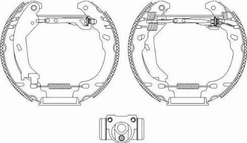 Textar 84064600 - Bremžu komplekts, trumuļa bremzes interparts.lv