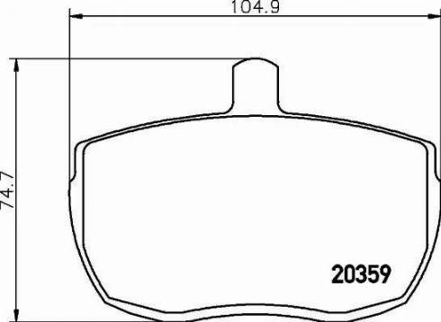 Textar 2035905 - Bremžu uzliku kompl., Disku bremzes interparts.lv