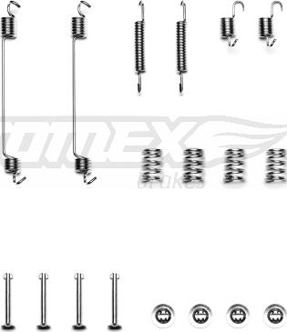 TOMEX brakes TX 40-08 - Piederumu komplekts, Bremžu loki interparts.lv