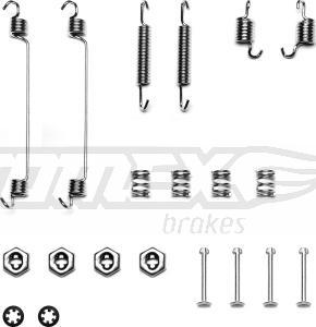 TOMEX brakes TX 40-14 - Piederumu komplekts, Bremžu loki interparts.lv
