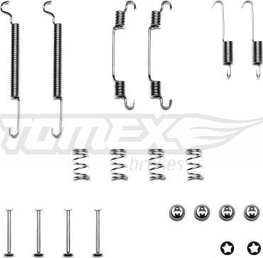 TOMEX brakes TX 40-34 - Piederumu komplekts, Bremžu loki interparts.lv