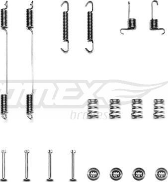 TOMEX brakes TX 40-31 - Piederumu komplekts, Bremžu loki interparts.lv
