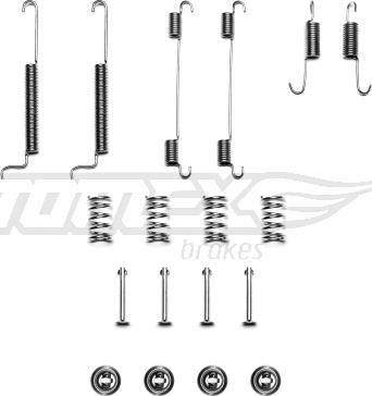 TOMEX brakes TX 40-32 - Piederumu komplekts, Bremžu loki interparts.lv