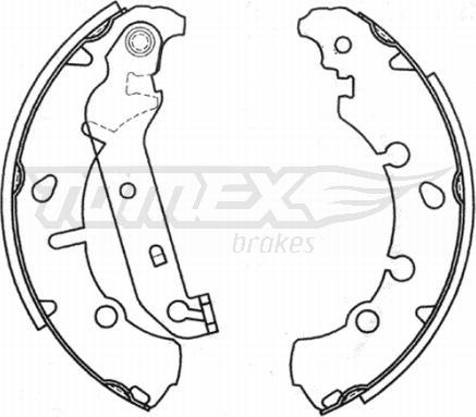 TOMEX brakes TX 20-93 - Bremžu komplekts, trumuļa bremzes interparts.lv