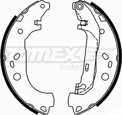 TOMEX brakes TX 21-87 - Bremžu komplekts, trumuļa bremzes interparts.lv