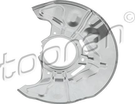 Topran 600 850 - Dubļu sargs, Bremžu disks interparts.lv