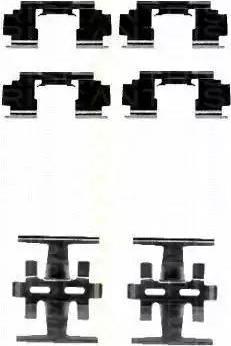 Triscan 8105 401612 - Piederumu komplekts, Disku bremžu uzlikas interparts.lv